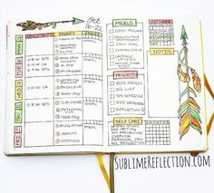 Weekly Spread Ideas for Your Bullet Journal | the Krafty Owl