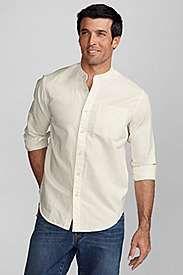Eddie Bauer Band Linen Collar Shirt