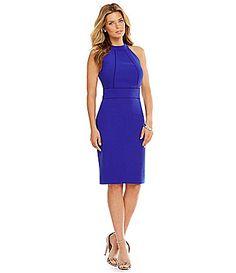 Katherine Kelly Halter Neckline Sheath Dress #Dillards