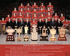 Photo d'équipe... et de trophés: Coupe Stanley, Art Ross, Hart Memorial, Conn Smyth, Lester B. Pearson, James Norris, Vézina Hockey Teams, Hockey Players, Hockey Stuff, Ice Hockey, Team Pictures, Team Photos, Montreal Canadiens, Nhl, Scottish Highland Games