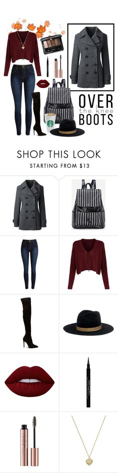 """""""Street Style: Fall Fashion"""" by heart4style ❤ liked on Polyvore featuring Lands' End, Janessa Leone, Lime Crime, Givenchy, Michael Kors and Guerlain"""