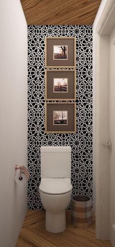 They range from simple ideas such as pure white tile bathroom to more complex an. They range from simple ideas such as pure white tile bathroom to more complex and sophisticated tile ideas you can e New Bathroom Ideas, Bathroom Inspiration, Small Bathroom Ideas On A Budget, Bathroom Hacks, Small Toilet Room, Space Saving Toilet, Toilet Room Decor, Small Toilet Design, Guest Toilet
