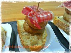 Para empezar la semana pintxo de champiñón e ibérico #food #pintxo #tapas