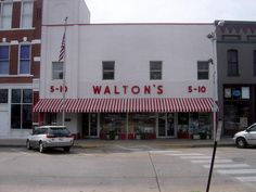 The first Wal-Mart store was opened in 1962 by [a salesman] Sam Walton. It was called Walton's Five and Dime. [Source]