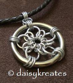 daisykreates: Plum Flower Dream Catcher Pendant