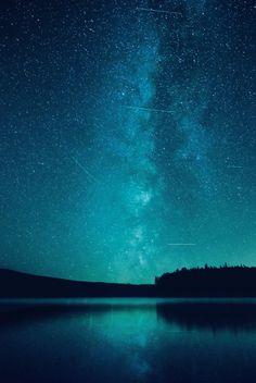 Under the stars. -