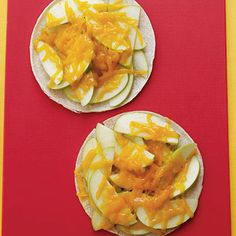 Cheddar and Apple Melt + 25 Amazing Apple Recipes | health.com -- I'd think this was gross if I hadn't dipped apples in cheddar at Melting Pot!