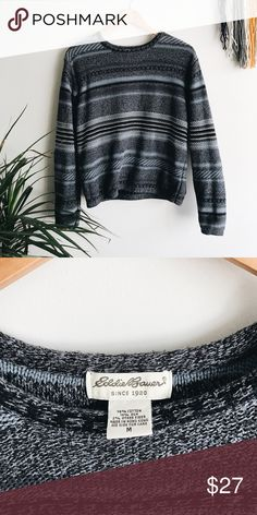 vintage blue sweater + vintage eddie bauer sweater + heavy sweater material, great for fall and winter    + not fitted, but not oversized | will fit an xs-medium depending on desired fit + great for a vintage / indie style   thrifted / vintage  leave any questions in the comments    Closet policies  XX No trades XX No PayPal Bundles =5% Discounts Vintage Sweaters Crew & Scoop Necks