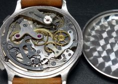 30's VEGLIA 40mm over size Chrono  Sector design