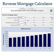 this reverse mortgage calculator shows how the balance of a reverse mortgage increases over time
