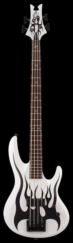 ESP LTD Signature Series Fred Leclercq FL-204 Electric Bass Guitar - Snow White Satin