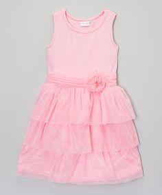 Another great find on #zulily! Pink Tiered Dress - Toddler & Girls #zulilyfinds