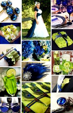 Wedding Theme Navy Blue And Lime Green