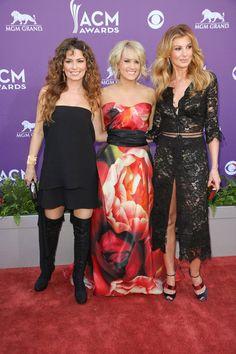Shania Twain, Carrie Underwood & Faith Hill at the 48th Annual Academy of Country Music Awards