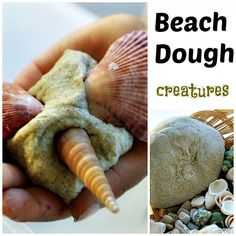 Beach dough made from sand! Kids love this gritty texture and it is still pliable to form creations. Utilize with a ocean theme or to use to teach about ocean animals. It is cooked like homemade playdough, some prep is required. www.therapyforyourchild.com sensory activities for summer