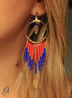 Boucles d'oreille Boheme Chic via Rubambelle. Click on the image to see more!