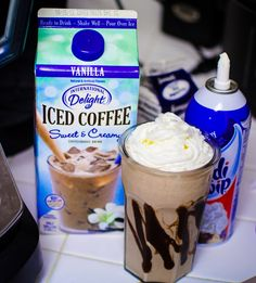 Chocolate and Vanilla Blended Coffee Recipe with International Delight #IcedDelight