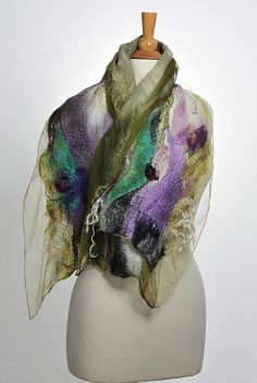 Nuno Felted Scarf | Embroidery and fibre inspiration | Pinterest