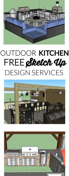 Let our experts help you design the outdoor kitchen you've always dreamed of. Together, we'll create a custom sketch of your new outdoor living space! Outdoor Kitchen Plans, Outdoor Kitchen Design, 3d Design, Free Design, Your Design, Outdoor Refrigerator, 3d Sketch, Design Services, Service Design