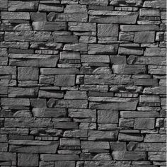New Slate Brick Wall