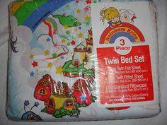 Vintage Rainbow Brite 3 Piece Twin Sheet Set 1983 in Package Unopened Fabric | eBay
