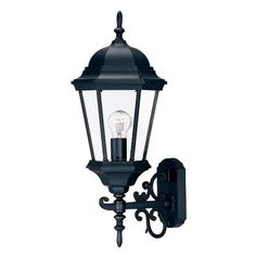 Acclaim Lighting Richmond Collection 1-Light Matte Black Outdoor Wall-Mount Light Fixture-5203BK - The Home Depot