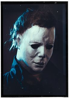 "In the first movie Michael was referred to by the studio as simply ""The Shape"" I guess for his shadowy presence<<which lead to him being called the shape in the video game dead by daylight Horror Icons, Horror Films, Horror Art, Slasher Movies, Horror Movie Characters, Halloween Film, Halloween Horror, Halloween Poster, Michael Myers"