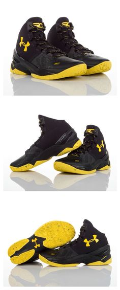 "Black & Yellow Under Armour Shoes/Curry/ ""NEW"""