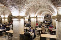Take tea in a crypt below Trafalgar Square in London England Uk, London England, Voyage Europe, Trafalgar Square, Exotic Places, London Restaurants, Covent Garden, Europe Destinations, London City