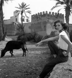 Suzy Parker, photo by Georges Dambier, Morocco, ELLE, April 27, 1953