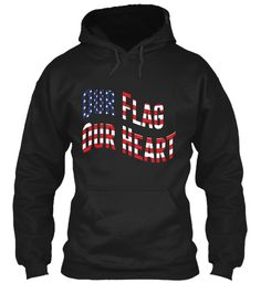 Our Flag Limited Edition (650+Sold)  Black T-Shirt Front
