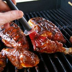 Recipe for american honey barbecue sauce. This sauce works well on chicken, cheese . - Recipe for american honey barbecue sauce. This sauce works well with chicken, pork chops and spare - Root Beer Bbq Sauce Recipe, Barbeque Sauce, Barbecue Chicken, Barbecue Grill, Bbq Sauces, Salsa Barbecue, Sauce Recipes, Chicken Recipes, Diet Recipes