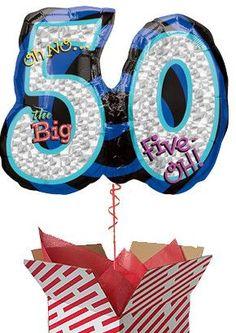 Large 50th Balloon - Oh No! It's My Birthday Gifts For 18th Birthday, 30th Birthday, 60th Birthday Balloons, First Birthdays, 50th, Big, Parenting, 30 Year Anniversary, One Year Birthday