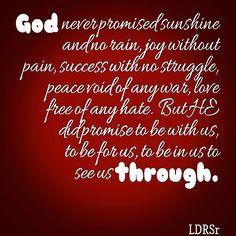 God sees us through