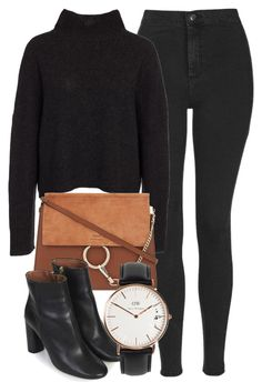 """""""Untitled #6279"""" by laurenmboot ❤ liked on Polyvore featuring Topshop, OneTeaspoon, Chloé and Daniel Wellington"""