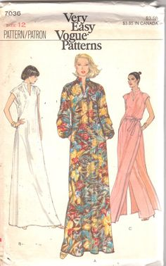 Vogue 7036 1970s Misses Pullover Dress Tunic and Pants Pattern Very Easy  Womens Vintage Sewing Pattern Size 14 Bust 36 bd53c43c9768
