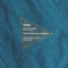 Each of our colors has a personality, a little temper of its own. Vertty has decided to put one sentence that would define their spirits on their tags.  This is Midnight Blue.