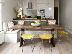 Built in kitchen bench seating dining room contemporary with yellow kitchen bench seating white trim