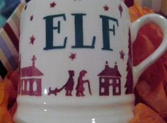 Emma Bridgewater Christmas Town Baby Mug Personalised ELF