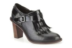 Womens Casual Shoes - Blues Melody in Black Combi Leather from Clarks shoes