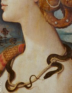 Detail of Portrait de Femme dit de Simonetta Vespucci by Piero di Cosimo Renaissance Kunst, Renaissance Paintings, Italian Renaissance, Classic Paintings, Old Paintings, Art Ancien, Victorian Art, Classical Art, Detail Art