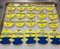 Minion cookies - just an image for ideas