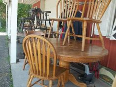 Table and chairs: $100