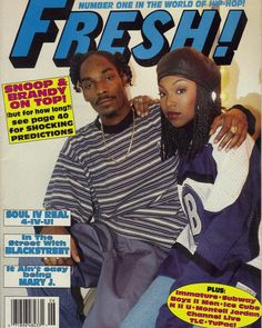 "OlskoolEra™  on Instagram: ""Snoop & Brandy (Fresh! Magazine, 1995) #90s #snoopdogg #brandynorwood"" • Instagram"
