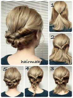 25 fast hairstyles for medium and long hair for every day. - hairstyleto - 25 fast hairstyles for medium and long hair for every day. – hairstyleto 25 fast hairstyles for medium and long hair for every day. Fast Hairstyles, Pretty Hairstyles, Braided Hairstyles, Wedding Hairstyles, Simple Hairstyles, Fashion Hairstyles, Simple Hairdos, Formal Hairstyles, School Hairstyles