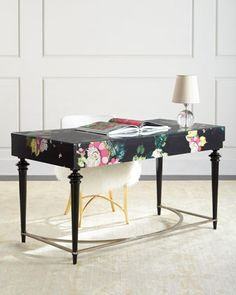 Fleur de Glee Writing Desk by Cynthia Rowley for Hooker Furniture at Horchow. in the kitty and puppy parlor