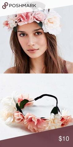 Bohemian Flower Crown Bohemian Flower Crown Urban Outfitters Accessories Hair Accessories