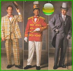 Simplicity 9686 Mens Victorian Music Man On Stage Costume Patterns