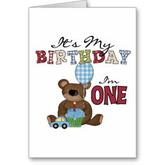 Boy Bear 1st Birthday Tshirts and Gifts Card