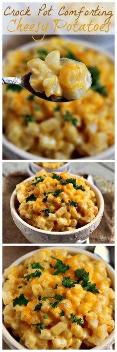 Julie's Eats & Treats: Crock Pot Comforting Cheesy Potatoes ~ Easy Creamy, Dreamy, Cheesy Potatoes!